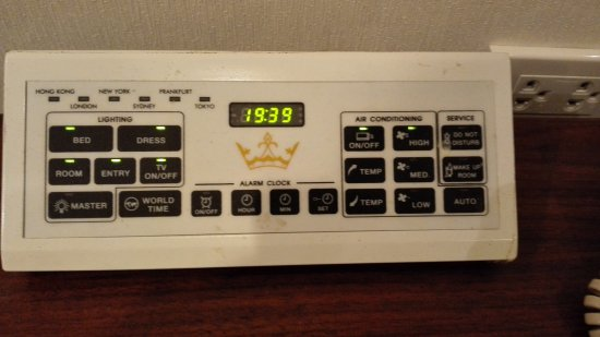 Majestic Suites: Very useful tool by bedside!