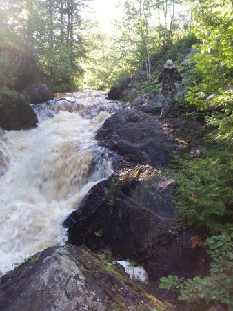 Pembine, WI: looking unstream from the trail