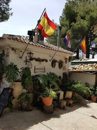 Restaurante el Mirador donde comimos muy bien las vistas inmejorables
