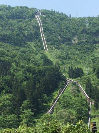 Tsunan-machi, Jepang: 東電中津川第一水力発電所 水路