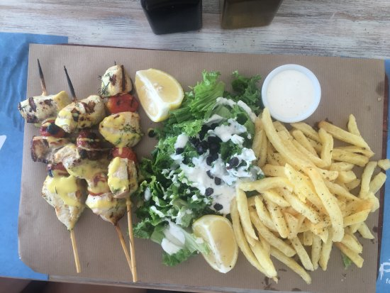 Swordfish skewer plate (HUGE!--enough for two people)