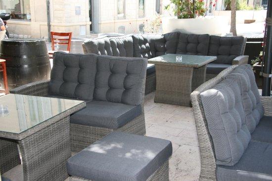 Le Danieli : la terrasse lounge du danieli