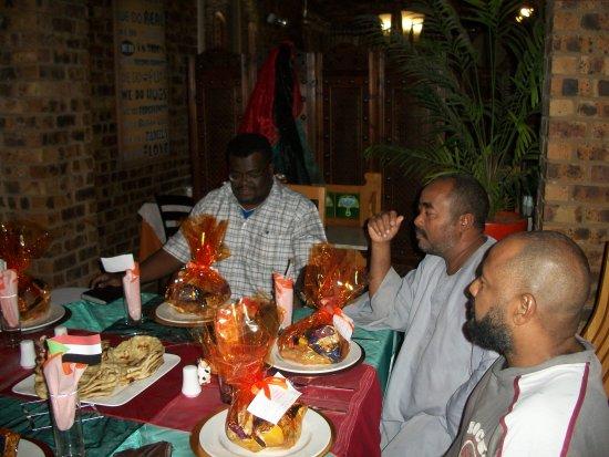 Ikwekwezi Boutique Estate: Sudanees farewell dinner