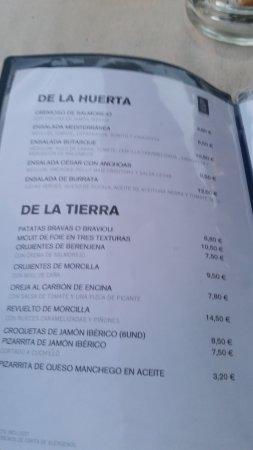 Carta 4 Picture Of Restaurante Butarque Sl Leganes