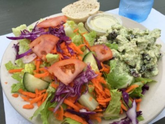Driftwood Cafe: Chicken pesto salad