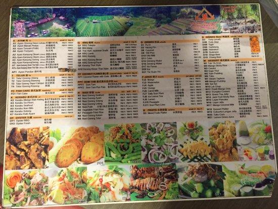 A Big Menu Card 1 Xplorermind Picture Of Veg Fish Farm