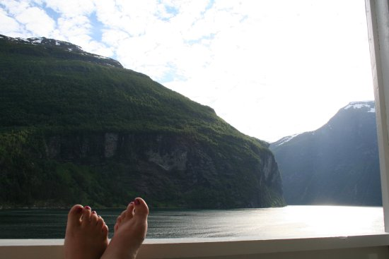 The Fjord From Our Balcony At Grande Fjord Hotel Picture