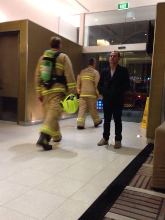 Adina Apartment Hotel Sydney, Central: Our trusty firies leaving after a false alarm!