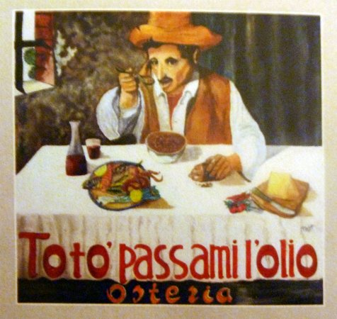 Toto Passami LOlio Carte De Visite Du Restaurant