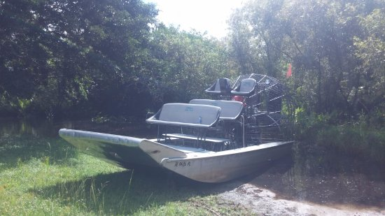Gator Park: Our airboat. Go for the private tour!