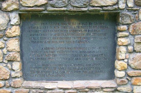 Old Fort, Северная Каролина: Informative sign