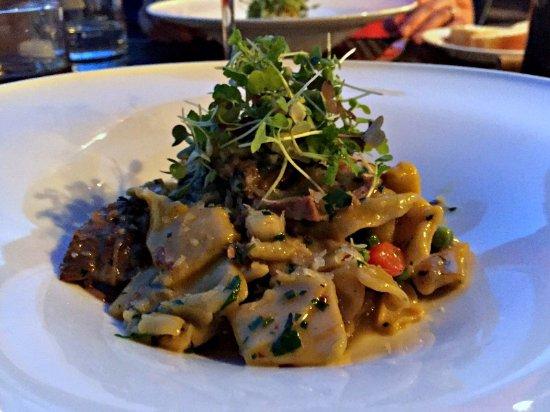 Lovettsville, VA: lamb special with handmade torn pasta