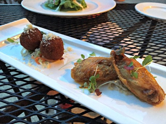 Lovettsville, VA: confit of orange chicken wings, lobster arancine