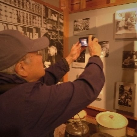 New Denver, Canada: Display of photos & artifacts in the former community centre building.