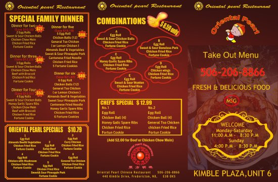Pearl Lake Restaurant Menu