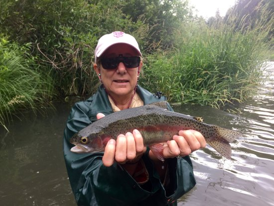 Fall River Mills, Californie : Fishing AND catching!