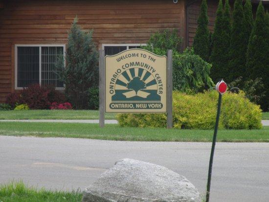 Ontario, NY: Casey Park - the community center sign