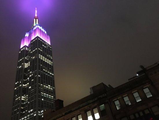 Hilton Garden Inn New York/West 35th Street: Empire State Building at night