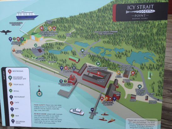 Map Of Icy Strait Complex Picture Of Icy Strait Point