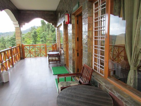 Balcony in front of room