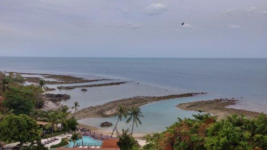 Laem Set, Tailandia: 房間露台~超級無敵海景