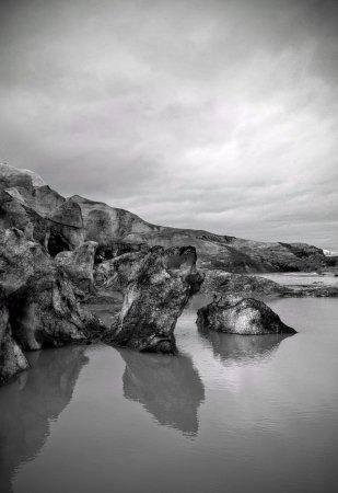 Skaftafell, Island: Fláajökull glacier.