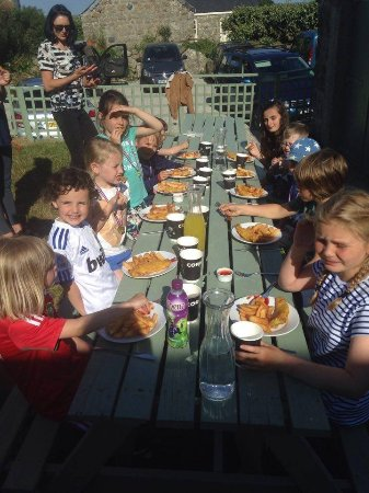 Apple Tree Cafe: Birthday parties - fish and chips at sunset