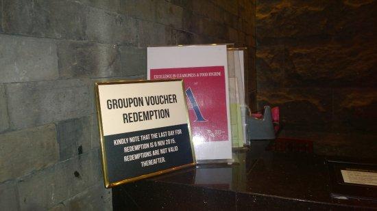 Groupon Notice Nea Food Hygiene Certificate Picture Of