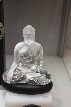 01820c3fa Crystal Buddha, at Swarovski store, Innsbruck - Picture of Gasthof ...