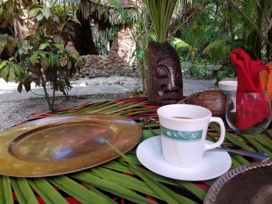 Maruba Resort Jungle Spa: Belizean coffee - divine