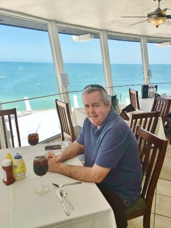 Spinners Rooftop Revolving Bistro Lounge Lunch At View Of St Pete Beach From Restaurant
