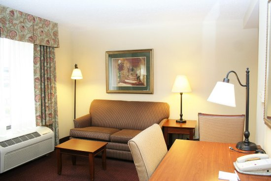 Hampton Inn & Suites Alexandria Old Town Area South: King Studio Suite Seating Area
