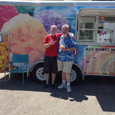 Londonderry, NH: Paul, the owner of Maui Wowee, is on the left.