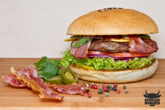Przezmierowo, Polen: Diwalko Burger - Burger Bekon BBQ