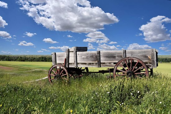 Custer Batttlefield Trading Post: This was the view out the window!