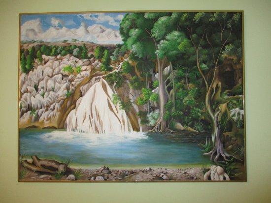 K rold delacruz a peint cette toile et me l 39 a donn e for Toile a bassin