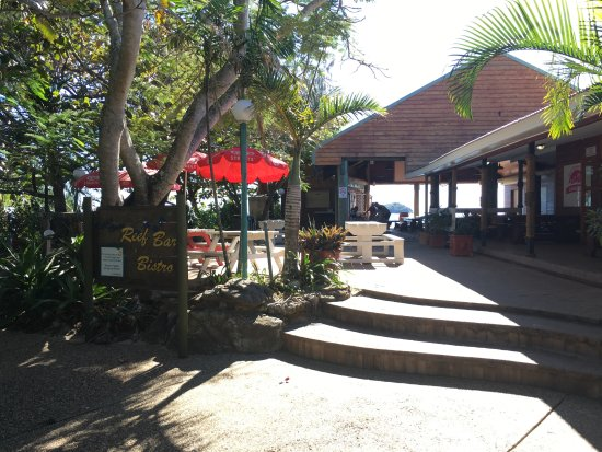 Great Keppel Island, Australie : Entry to Great Keppel Hideaway Reef Bar & Bistro.