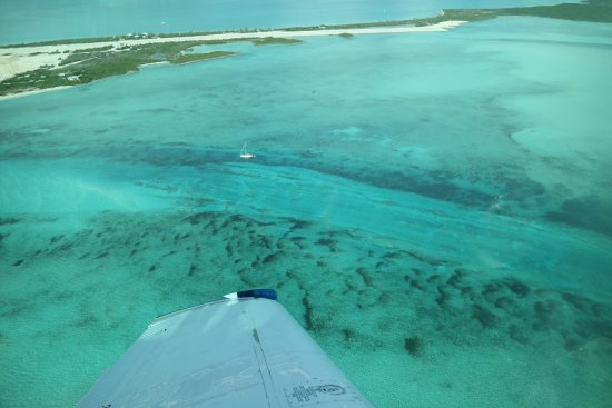Norman's Cay: You can see MacDuff's on the top left of the picture on the other side of runway