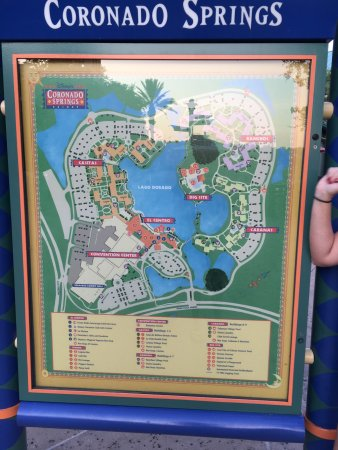 Map of resort Picture of Disney s Coronado Springs Resort Orlando