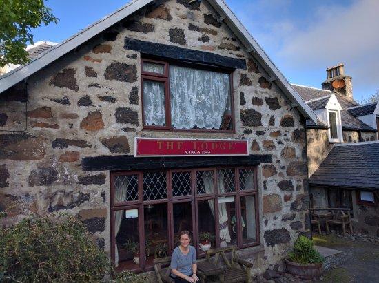 The Lodge at Edinbane : Circa 1543! Our room was right above the pub