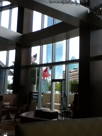 Omni Dallas Hotel: View from Lobby - Reproduction of Mobil Pegasus