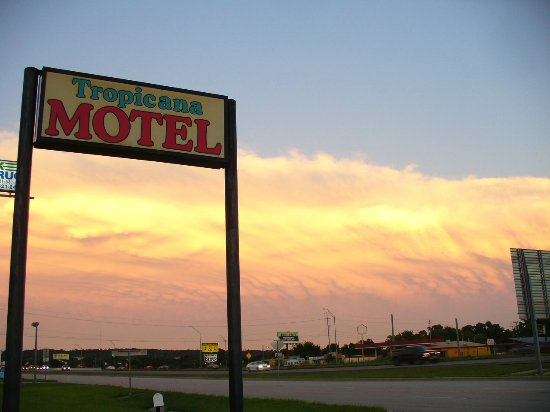 Tropicana Motel: Storms brew around the Tropicana's large sign