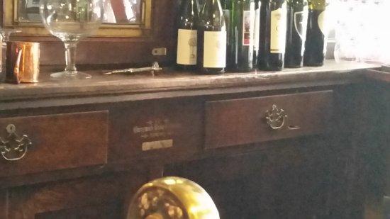 Buffalo, WY: Bullet holes behind bar.