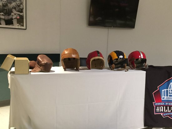 Pro Football Hall of Fame: Attended a demo on the evolution of the Football Helmet