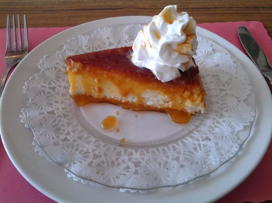 Pasadena, MD: caramel custard of coconut-cream offers fuller texture than ordinary flan or creme brule.