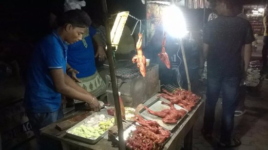 Digha, India: Low quality Street Food BBQs - avoid at any cost