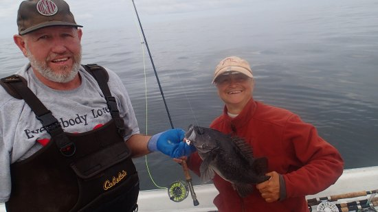 Pacific City Fishing: surface action for rock bass