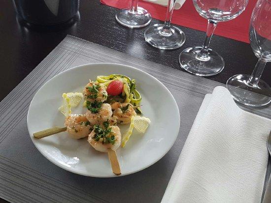 Cestas, France : Brochettes de crevettes