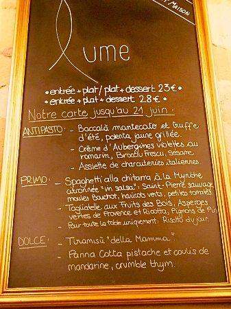 Carte Restaurant Bordeaux.Carte Picture Of Lume Bordeaux Tripadvisor