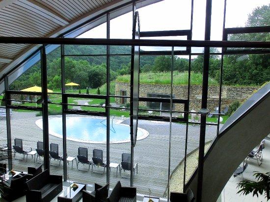 Bad Sulza, Alemania: Blick auf eine der Außensaunen der Toskana-Therme